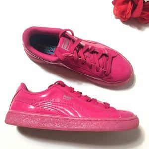 Puma Basket Glitter Sneakers